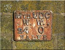 SE0125 : Mytholmroyd UDC Water Works valve marker plate by Humphrey Bolton