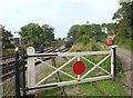 ST6642 : Gate at Cranmore Station by Des Blenkinsopp
