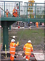 NT3364 : Ramp meets footbridge by M J Richardson