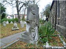 TQ1785 : The Powis memorial, St John's Churchyard, Wembley by Marathon