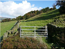 SE0125 : Gate and stile on Hebden Royd FP67 by Humphrey Bolton