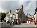 SY9582 : Corfe Castle: National Trust tearoom by Chris Downer