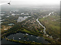 TQ0075 : Wraysbury from the air by Thomas Nugent
