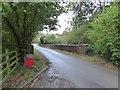 SY0482 : Castle Lane bridge over former railway line by David Smith