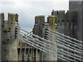 SH7877 : Conwy suspension bridge detail by Steve  Fareham