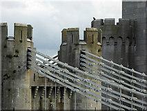 SH7877 : Conwy suspension bridge detail by Steve  Fareham
