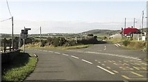 SH1727 : Road junction at entrance to Aberdaron by John Firth