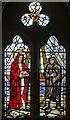 TQ8713 : Stained glass window, Ss Mary & Peter church, Pett by Julian P Guffogg