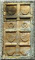 SD8249 : Carved panels, Mill Bridge Cottage, Gisburne Park by Karl and Ali