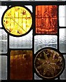SP9126 : Old Linslade - St Mary's - old stained glass fragments by Rob Farrow