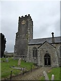 SS6907 : Tower, porch and graveyard of Coldridge church by David Smith