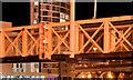 J3474 : The Lagan weir footbridge, Belfast (night view) - October 2014(6) by Albert Bridge