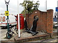 SZ3295 : Anchor near Lymington Town Railway Station by Jaggery