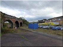 SS7207 : A377 bridge over the Tarka Line at Lapford by David Smith