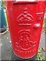 TG2107 : Royal Cypher on Newmarket Road/Eaton Road Edward VII Postbox by Adrian Cable