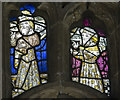 SK8059 : Detail, Stained glass window, St Giles' church, Holme by J.Hannan-Briggs