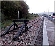SS8591 : NW end of the Maesteg Line in Maesteg by Jaggery