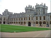 SU9777 : Windsor : Windsor Castle - Upper Ward by Lewis Clarke
