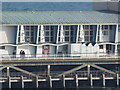 SZ0890 : Bournemouth: sea reflections on the pier building by Chris Downer