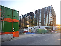 TQ3083 : New offices on Goods Way, Kings Cross by David Howard