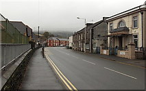 SS8591 : Bend ahead in Castle Street, Maesteg by Jaggery