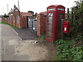 TG2200 : Telephone Box & Ipswich Road near Public House Postbox by Adrian Cable