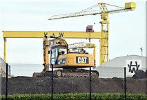 J3574 : Digger, Titanic Quarter, Belfast (November 2014) by Albert Bridge