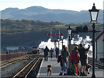 SH5738 : On the platform at Porthmadog Harbour Station by Robin Drayton