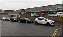 SS8591 : Cars outside Maesteg Swimming Pool by Jaggery