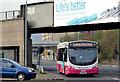 J3474 : Bus and railway bridge, Belfast (November 2014) by Albert Bridge
