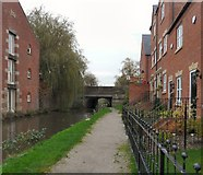 SJ9495 : Approaching Manchester Road Bridge by Gerald England