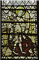 TR0039 : Medieval stained glass window, St Michael's church, Kingsnorth by Julian P Guffogg