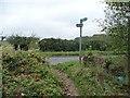 TL0928 : Signpost at bridleway entrance near Barton Hill Farm by Christine Johnstone