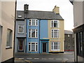 SN5881 : Bridge Street/Heol-y-Bont houses by M J Richardson