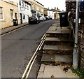 ST9063 : Union Street steps to a raised pavement in Melksham by Jaggery