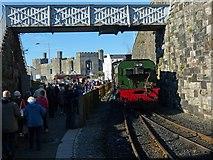 SH4862 : Caernarfon Station by Robin Drayton