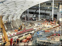 SJ8499 : Manchester Victoria Station Redevelopment Work, October 2014 by David Dixon