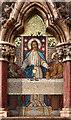 TQ2993 : Christ Church, Southgate - Reredos by John Salmon