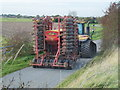 TF3539 : Tractor and seed drill on Wyberton Roads by Richard Humphrey