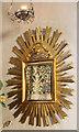 TQ3036 : St Nicholas, Worth - Aumbry by John Salmon