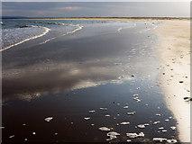 NH8089 : Wet sand on an advancing tide, Dornoch by Julian Paren