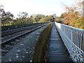 NY4654 : Walkway over Corby Bridge by Oliver Dixon