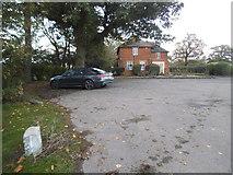 TQ1988 : Car park in Roe Green Park by David Howard