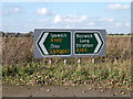 TM1783 : Roadsigns on the A140 Dickleburgh Bypass by Adrian Cable