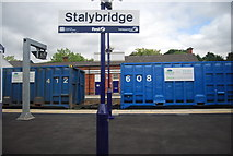 SJ9598 : Freight Train at Stalybridge Station by N Chadwick