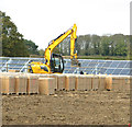TF8525 : Solar farm construction at West Raynham by Evelyn Simak