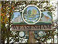 TF8522 : Weasenham village sign by Evelyn Simak