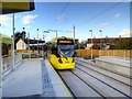 SJ8090 : Metrolink Airport Line, Wythenshawe Park by David Dixon