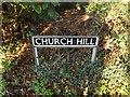 TM1995 : Church Hill sign by Adrian Cable