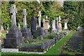 TQ3674 : Brockley Cemetery memorial crosses by Julian Osley